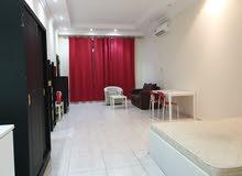 available fully furnished specious studio/ استديو مساحة واسعة في أم لخبأ