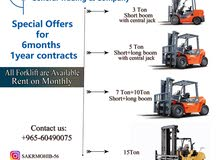 forklifts on rent monthly