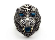 خاتم فضه نمر عين ازرق