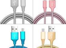 كابل شاحن USB  لجميع انواع التليفونات الاندرويد