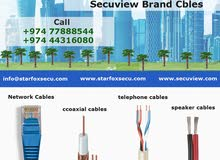 network cables, coaxial cables, speaker cables, telephone cables