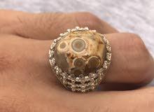 للبيع خاتم فضة تفصال جديدة