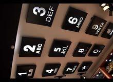 ديكور ارقام موبايل ضوئي للسقف