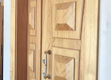 باب رئيسي خشب طبيعي درجة أولى 220*120