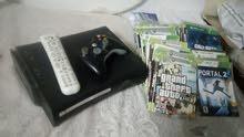 جهاز Xbox 360 ELITE مع اكثر من 100 لعبة