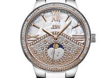 ساعة نسائية راقية ومميزة مرصعة ب 5 فصوص الماس طبيعي