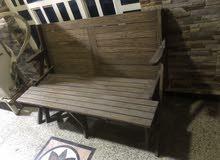 كعده مرجوحه خشب للحدائق للبيع مستعمل