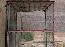 قفص حديد قوي كبير ونظيف يصلخ لجميع االطيور والحيوانات