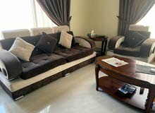 brown and cream luxury sofa set for sale negotiable