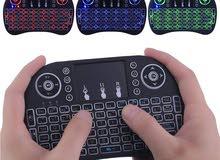Wireless LED keyboard with TouchPad- ميني كيبورد ويرلس
