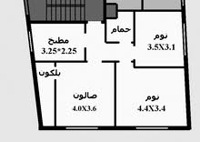 ماركا للايجار شقة صغيرة  قرب جسر البيبسي ش. الحزام .