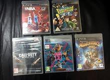 Five PlayStation PS3 Games (2 used, 3 new not opened)