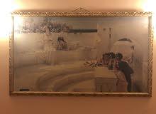 لوحة فنية رسم على قماش نادرة