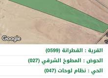 ارض في لواء القطرانه واصلها شارع 40م معبد تبعد عن شارع الصحراوي2كم شرق الشارع