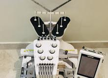 مكينة تطريز موديل 650 جديده استعمال مدة اربعه اشهر