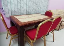 Marble dinning table with 4 chair.