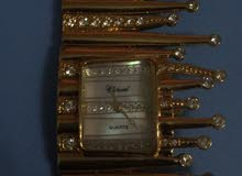 ساعة نسائية ماركة chopard الاصلية مستعملة للبيع