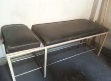 2 سرير كشف واسطوانة أكسجين بالمنظم