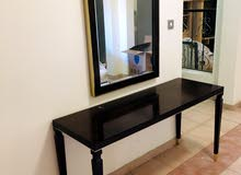 Console table with mirror