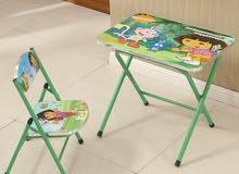 طاولة و كرسي للاطفال