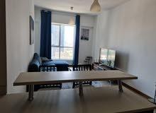 دبي مارينا غرفة وصالة مفروشة سوبر لوكس اول ساكن مع بلكونة - ايجار شهري
