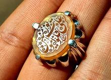 خاتم عقيق يماني زجاجي