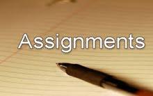 كتابة التقارير وحل الاسايمنت والمشاريع  writing assignment reports projects