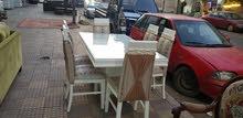 للبيع سفره ميداس خشب زان مع 6كراسي خشب زان لون أبيض بسعر مغري