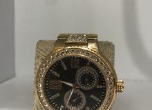 ساعة رجالية مستعملة الماس حقيقي وذهب 10٪حقيقي