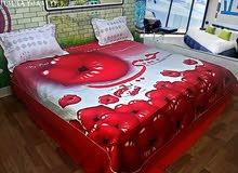 غطاء سرير نفرين قطن مع اكياس مخدتين بشكل ورونق غايه في الجمال.