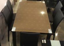 طاولة زجاج 6 كراسي