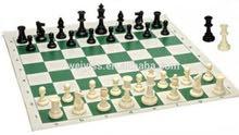 رقعة شطرنج و دمينو و نرد جلد حجم كبير سهلة الطي