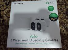 كاميرا مراقبه ويرلس متحركه Arlo Security System with 4 HD Cameras - Whit