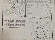 للبيع ارض تجارية في بركاء حي عاصم سفاري مقابل المدينة اللوجستية تبعد 300متر عن الشارع العام