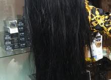 باروكه شعر  طبيعي طويلة وكثيفه الون اسود