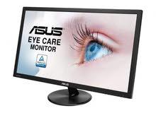 للبيع شاشة ASUS 24 inch 60 HZ  نضيفة وبدون اي مشاكل