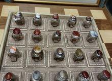 خواتم اجار طبيعية عقيق وفضة قطع فخمة