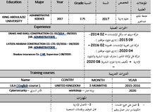 سعودي خبرة بالموارد البشرية والشؤون الإدارية