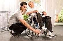 جليس لمرضي مسنين او ذوي احتياجات خاصة .. كافة الضمانات
