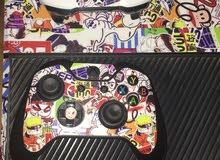 جهاز Xbox one  مع يدتين تحكم والعاب وجميع الاسلاك