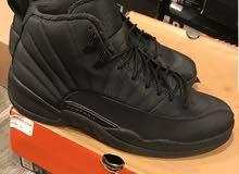 "Air Jordan 12 Retro Winterized "" Triple Black "" Size US M 9.5 , SKU BQ"