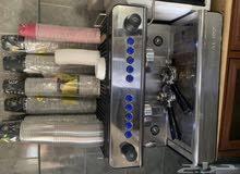 مكينة قهوه اسبرسو وكاشير مبيعات ومطحنه قهوه وعدة كوفي متكامله
