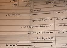 BMW 318 car for sale 1998 in Amman city
