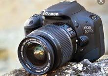 كاميرا كانون D550 مستعمل نضيفه