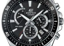 Casio Edifice Men's Black Dial Stainless Steel Band Watch - EFR-552D-1A