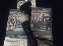 PlayStation 3 Move Motion Controller+PlayStation Eye+Games