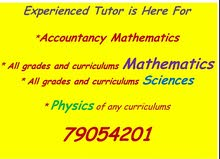 accountancy maths and all grades math,Physics and science tutor