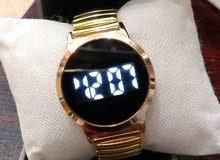 ساعة تاتش دائرية ذهبي