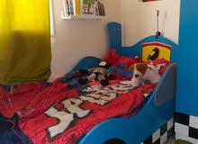 طقم سرير فيراري مع دولاب وسرير اطفال اخر