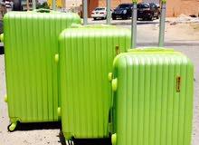 trully traveling bag plastic 4 whells 3pcs set